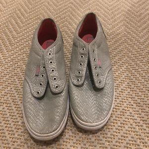 Gray and pink vans!! Barely worn and super cute